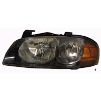 Fits 04-06  SENTRA LEFT DRIVER HEADLAMP ASSEMBLY With/BLACK HOUSING