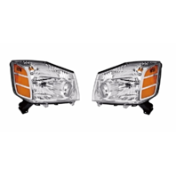 Fits 04-06 Nissan Titan 04-*07 Armada to 9-06 Left & Right Set Headlamp Assembly