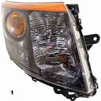 Fits 07-09  SENTRA LEFT DRIVER HEADLAMP ASSEMBLY With/SMOKE TRIM
