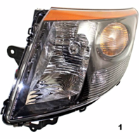 Fits 07-09  SENTRA RIGHT PASSENGER HEADLAMP ASSEMBLY With/SMOKE TRIM