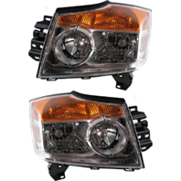 Fits 08-15 NISSAN ARMADA LEFT & RIGHT SET HEADLAMP ASSEMBLIES