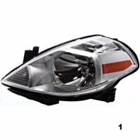 Fits 7-11  VERSA / 12 VERSA HATCHBACK LEFT DRIVER HEADLAMP ASSEMBLY