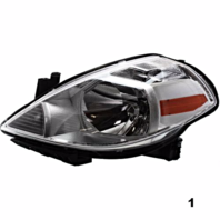Fits 7-11  VERSA / 12 VERSA HATCHBACK RIGHT PASSENGER HEADLAMP ASSEMBLY