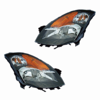 Fits 07-09 NISSAN ALTIMA SEDAN LEFT & RIGHT SET HALOGEN HEADLAMP ASSEMBLIES