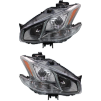 Fits 09-14  MAXIMA LEFT & RIGHT SET HALOGEN HEADLAMP ASSEMBLIES