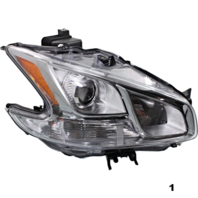 Fits 09-14  MAXIMA RIGHT PASSENGER HALOGEN HEADLAMP ASSEMBLY