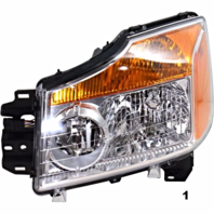 Fits 08-15  TITAN LEFT DRIVER HEADLAMP ASSEMBLY