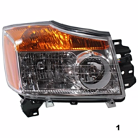Fits 08-15  TITAN RIGHT PASSENGER HEADLAMP ASSEMBLY