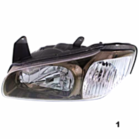 Fits 00-01 MAXIMA LEFT DRIVER HALOGEN HEADLAMP ASSEMBLY w/ Bronze Bezel 3 options