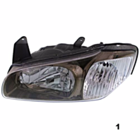 Fits 00-01 Maxima LT & RT SET Halogen Headlamp Assm With Bronze Bezel