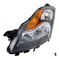 Fits 07-09 NISSAN ALTIMA SEDAN LEFT DRIVER HID HEADLAMP ASSEMBLY W/Out HID KIT