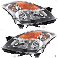 Fits 07-09 NISSAN ALTIMA SEDAN LT & RT SET HID HEADLAMP ASSEMBLIES W/Out HID KIT
