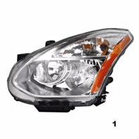 Fits 08-13 NS ROGUE L&R SET HID HEADLAMP ASSM W/O HID KIT W/O RIBBED SIGNAL LENS