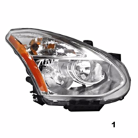 Fits 08-13 NS ROGUE RT PASS HID HEADLAMP ASSM W/O HID KIT W/O RIBBED SIGNAL LENS