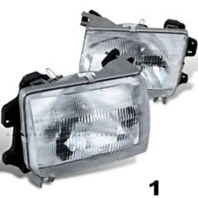 FITS 98-00 NISSAN FRONTIER LEFT & RIGHT SET HEADLAMP ASSEMBLIES