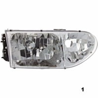 Fits 99-02  VILLAGER RIGHT PASSENGER HEADLAMP ASSEMBLY