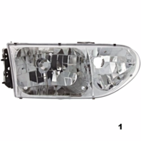 Fits 99-00  QUEST RIGHT PASSENGER HEADLAMP ASSEMBLY