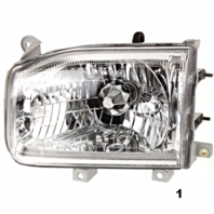 Fits 99-04  PATHFINDER LEFT & RIGHT SET HEADLAMP ASSEMBLIES FROM 12/98