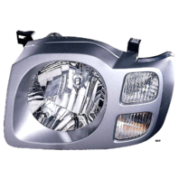FITS 02-04 NISSAN XTERRA LEFT DRIVER HEADLAMP ASSEMBLY With/SILVER BEZEL
