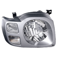 Fits 02-04  XTERRA LEFT & RIGHT SET HEADLAMP ASSEMBLIES With/SILVER BEZEL
