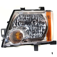 Fits 05-13  XTERRA LEFT DRIVER HEADLAMP ASSEMBLY With/CHROME BEZEL