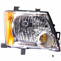 Fits 05-13  XTERRA RIGHT PASSENGER HEADLAMP ASSEMBLY With/CHROME BEZEL