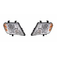 FITS 09-17 NISSAN FRONTIER LEFT & RIGHT SET HEADLAMP ASSEMBLIES