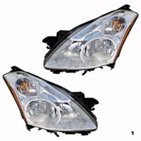 Fits 10-12 NISSAN ALTIMA SEDAN LEFT & RIGHT SET HALOGEN HEADLAMP ASSEMBLIES