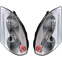 FITS 03-05 IN G35 COUPE LEFT & RIGHT SET HID HEADLAMP ASSEMBLY With/Out HID KIT