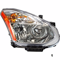 Fits 08-13  ROGUE RT PASS HALOGEN HEADLAMP ASSEMB With/RIBBED SIGNAL LENS