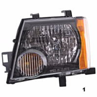 Fits 05-13  XTERRA LEFT DRIVER HEADLAMP ASSEMBLY With/BLACK BEZEL