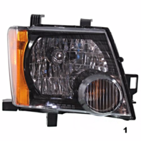 FITS 05-13 NISSAN XTERRA RIGHT PASSENGER HEADLAMP ASSEMBLY With/BLACK BEZEL
