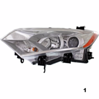 Fits 11-13  QUEST LEFT DRIVER HALOGEN HEADLAMP ASSEMBLY