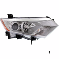 Fits 11-13  QUEST RIGHT PASSENGER HALOGEN HEADLAMP ASSEMBLY