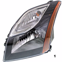 Fits 10-12  SENTRA LEFT DRIVER HEADLAMP ASSEMBLY With/SMOKED BEZEL