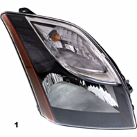 Fits 10-12  SENTRA RIGHT PASSENGER HEADLAMP ASSEMBLY With/SMOKED BEZEL