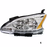 Fits 13-15  SENTRA LEFT DRIVER HALOGEN HEADLAMP ASSEMBLY