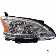 Fits 13-15  SENTRA RIGHT PASSENGER HALOGEN HEADLAMP ASSEMBLY