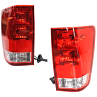 Fits 04-15 NISSAN TITAN LEFT & RIGHT SET TAIL LAMP ASSEMBLES With UTILITY BED