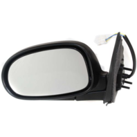 Fits 00-03 Maxima Left Driver Power Mirror Unpainted Manual Folding No Heat