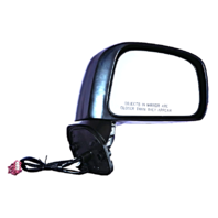 Fits 07-12  Versa Hatchback Right Passenger Power Mirror Unpainted No Heat