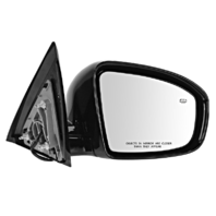 Fits 13-16 Pathfinder Left Driver Power Mirror Unpainted W/Heat No Mem, Camera