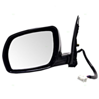 Fits 03-04  Murano Left Driver Power Mirror Unpainted With Heat / Memory