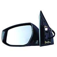 Fits 13-15  Sentra Left Driver Power Mirror Unpainted With Heat/Signal