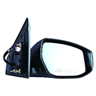 Fits 13-15  Sentra Right Passenger Power Mirror Unpainted With Heat/Signal