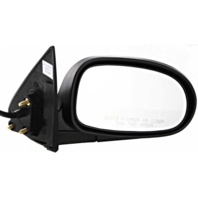 Fits 00-03 Maxima Right Passenger Power MIrror Unpainted With Heat Manual Fold