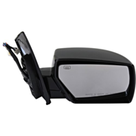 Fits 04-09 Nissan Quest Right Pass Power Mirror Unpainted W/Ht, Memory No Puddle