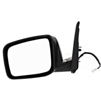 Fits 14-15 Rogue Select Left Driver Power Mirror Textured W/Heat No Camera