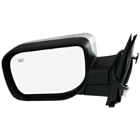 Fits 04-15 Titan / Armada Left Driver Chrome Power Mirror W/Ht,Sing Arm,Man Fold