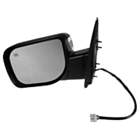 Fits 04-14 Titan Left Driver Power Chrome Mirror W/Ht,Mem,Lamp,Sign Arm,Man Fold